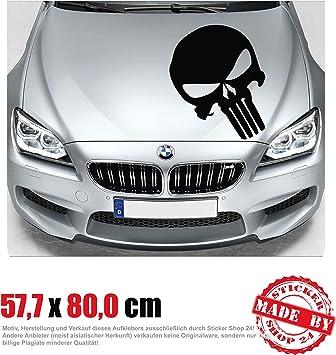 The Punisher Motorhaubenaufkleber 57 7 Cm X 80 0 Cm Auto Aufkleber Jdm Oem Tuning Sticker Decal 30 Farben Zur Auswahl Auto
