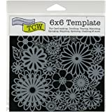 Crafters Workshop Crafter's Workshop Template, 6 by 6-Inch, Flower Frenzy