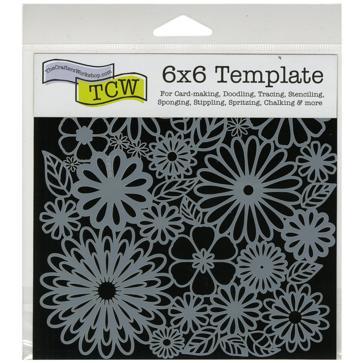 CRAFTERS WORKSHOP Template Time Travel 6 by 6-Inch