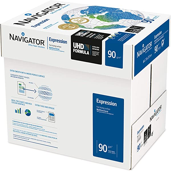 500 SHEETS PER REAM CHP750 HP A4 90GSM LASER PRINTER COPY PAPER WHITE