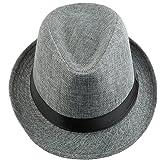 Shanxing Fedora Hats for Men Trilby Hat Panama Style Summer Beach Sun Jazz Cap