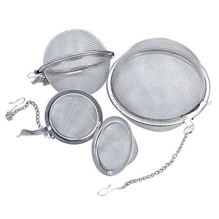 Loose Leaf Tea Infuser Stainless Steel Mesh Ball Strainers Tea Filters Tea Interval Diffuser for Tea 5cm