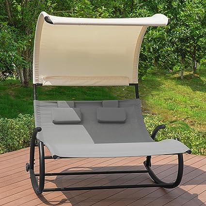 Transat pour Jardin Noir Respirant Soleil Terrasse Strand Balcon Charge /> 130kg