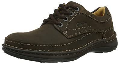Clarks Nature Three - Ebony Oily (Brown) Mens Shoes 8.5 US