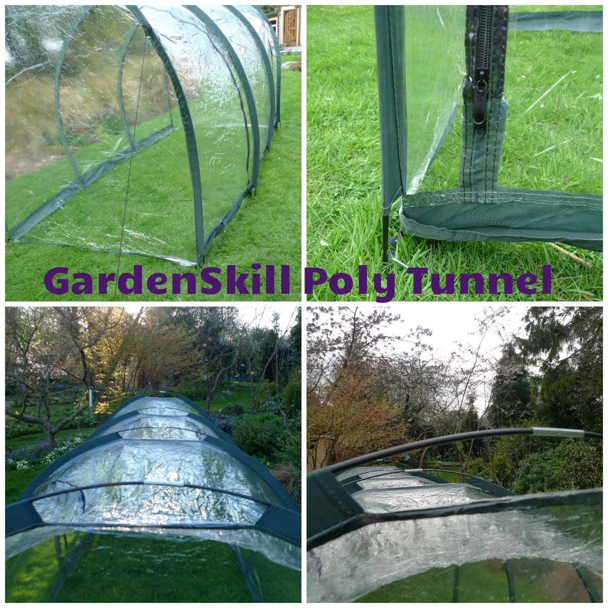 1.5m Wide and 1.5m High - Garden Giant Easy Poly Tunnel Greenhouse for Plant Protection (5m x 1.5m x 1.5m) GardenSkill
