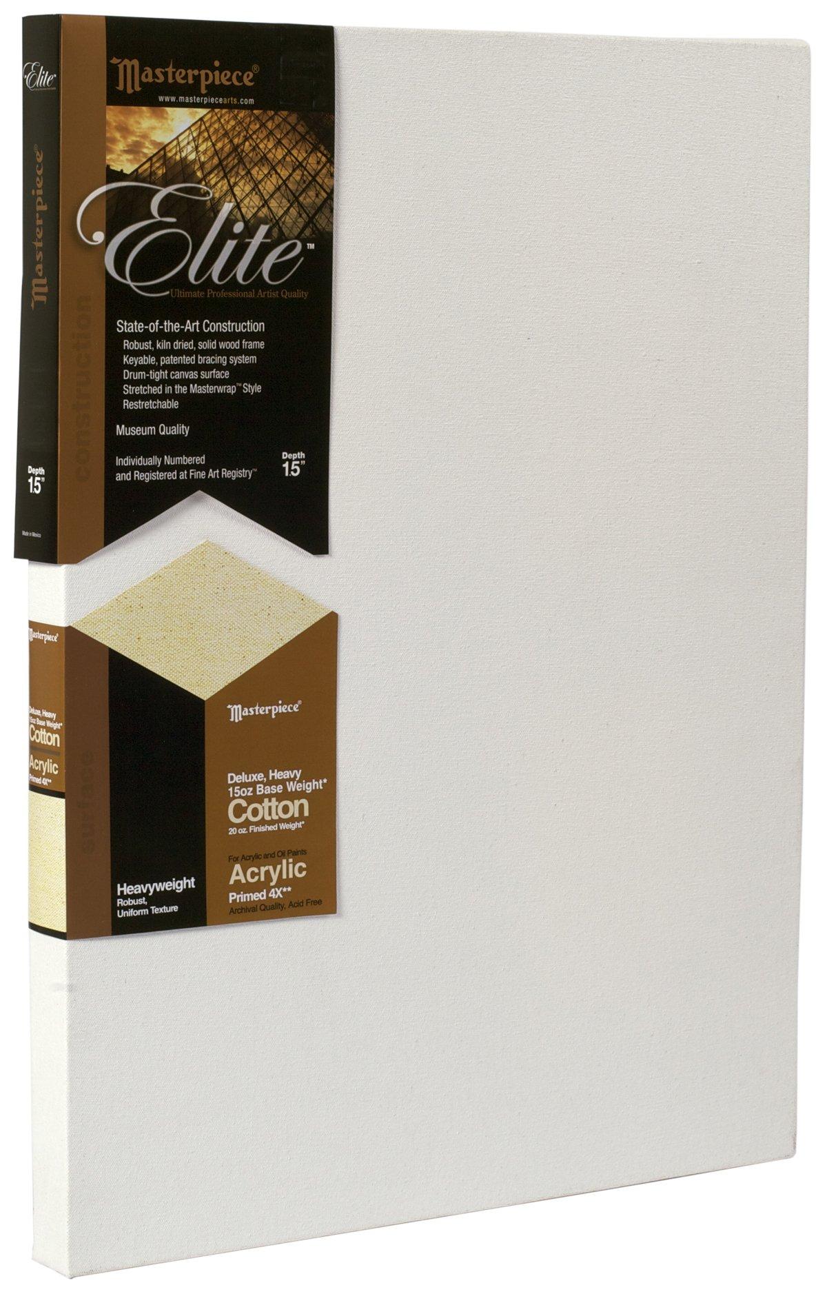 Masterpiece Artist Canvas 34551T Elite 1-1/2'' Deep, 48'' x 60'', Heavy 15-Ounce Acrylic Primed Cotton