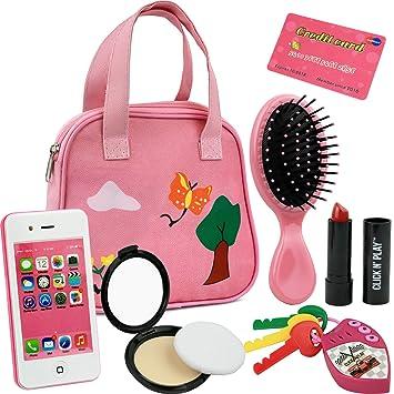 Amazon.com: Click N Play Cartera de 8 piezas para niñas ...
