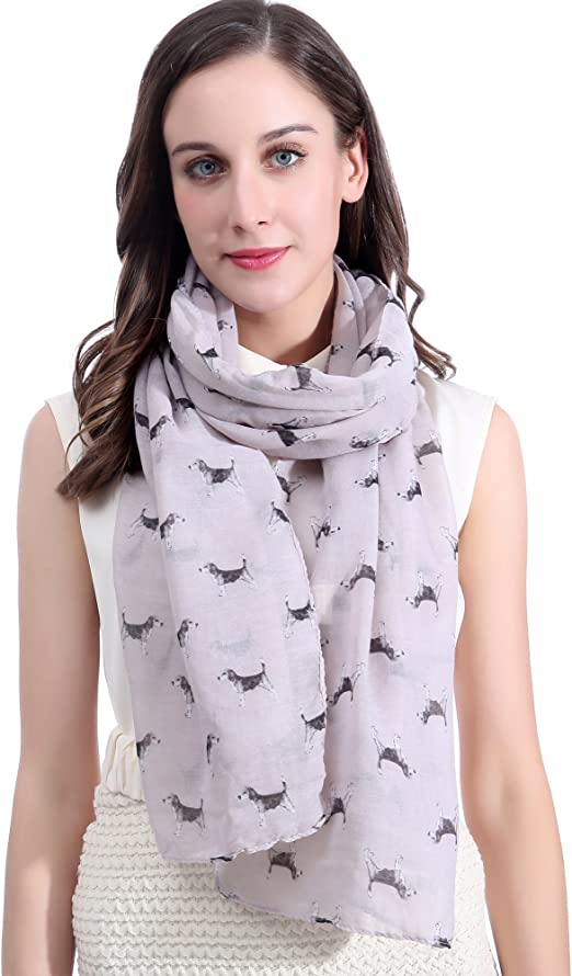 American Cocker Spaniel scarf dog print scarves womens printed fashion shawl