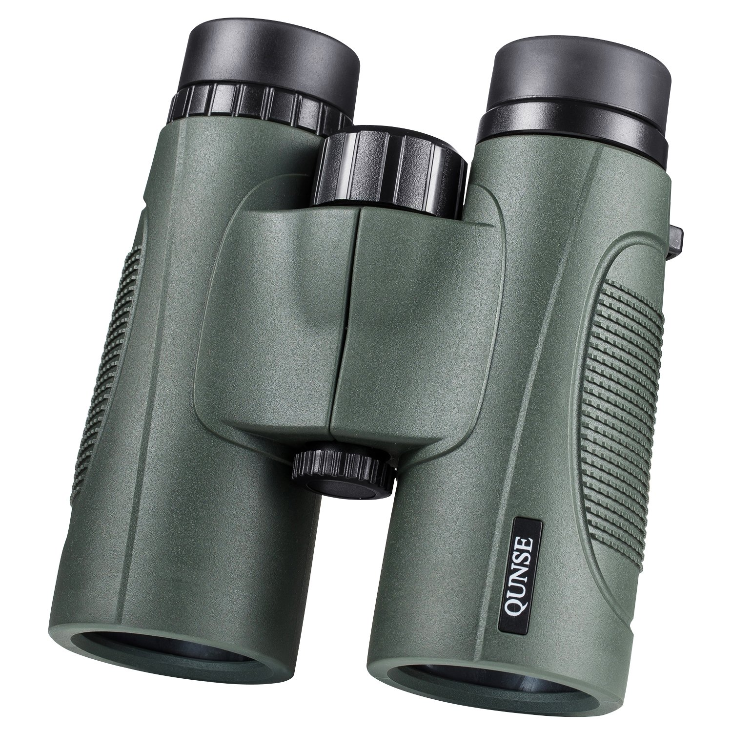 QUNSE 10x42 Binoculars for Adults Compact,BAK4 Prism FMC Lens Powerful Binocular with Phone Adapter,Harness,Wire Shutter and Tripod Adapter for Bird Watching,Safari and Outdoor Games