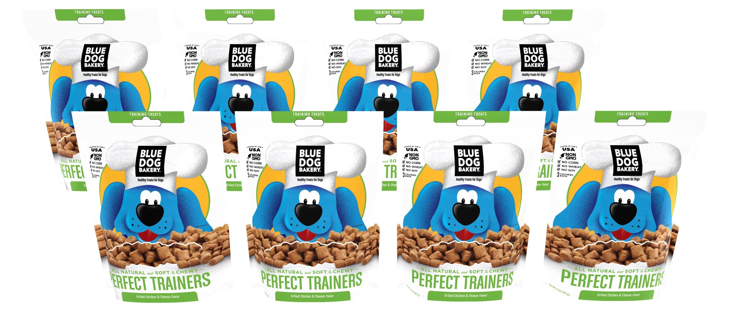 Blue Dog Bakery | Soft & Chewy Dog Treats | All-Natural | Training Aid | 6oz (Pack of 8) by Blue Dog Bakery