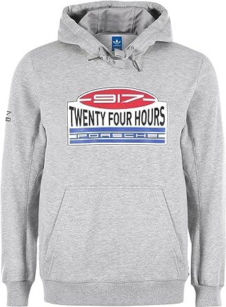 buy online dc871 671eb Adidas 917 Hooded Sweatshirt, Men, grey mixed, L: Amazon.co ...