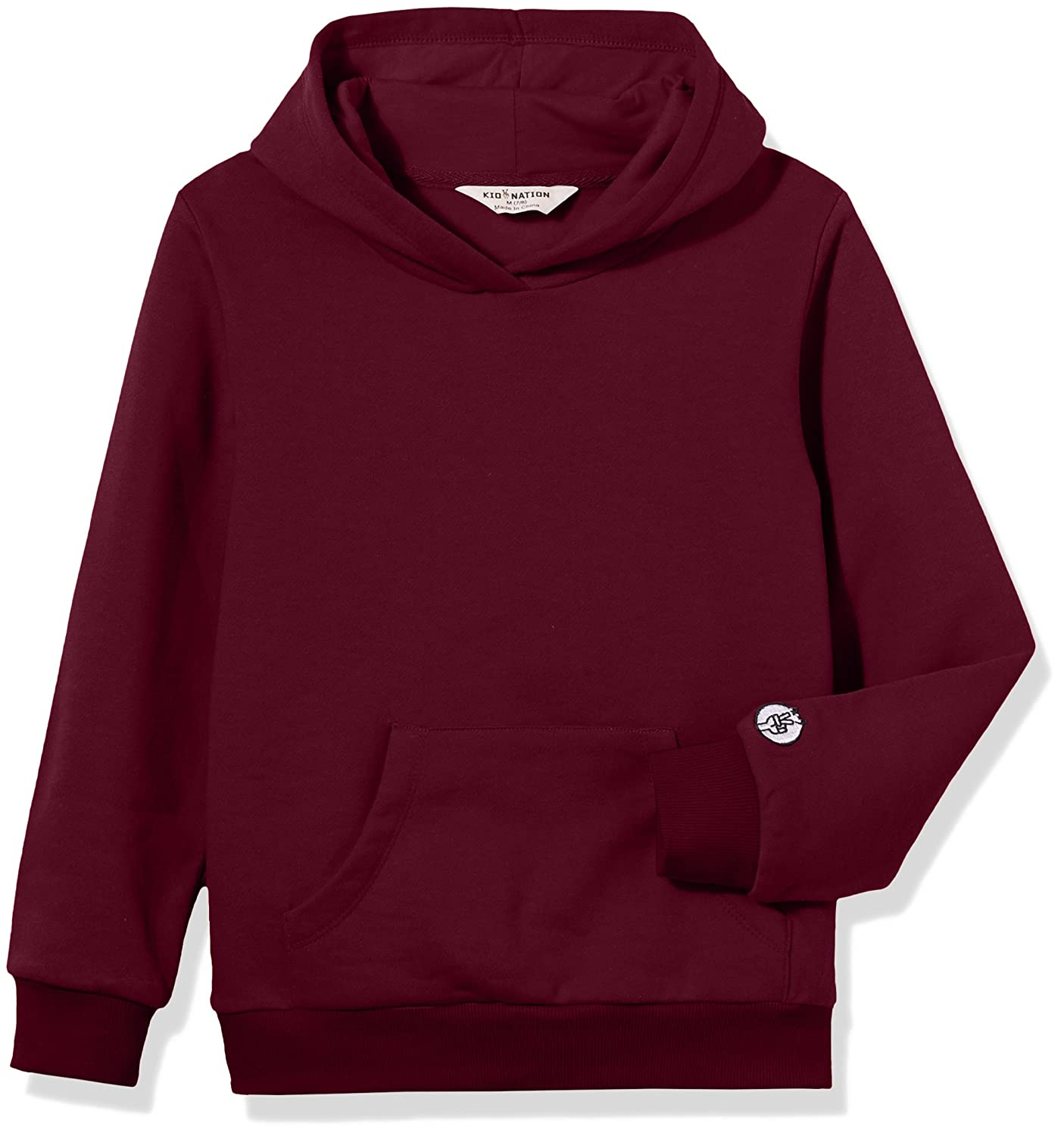 Kid Nation Kids Soft Brushed Fleece Casual Basic Pullover Hooded Sweatshirt Hoodie for Boys or Girls