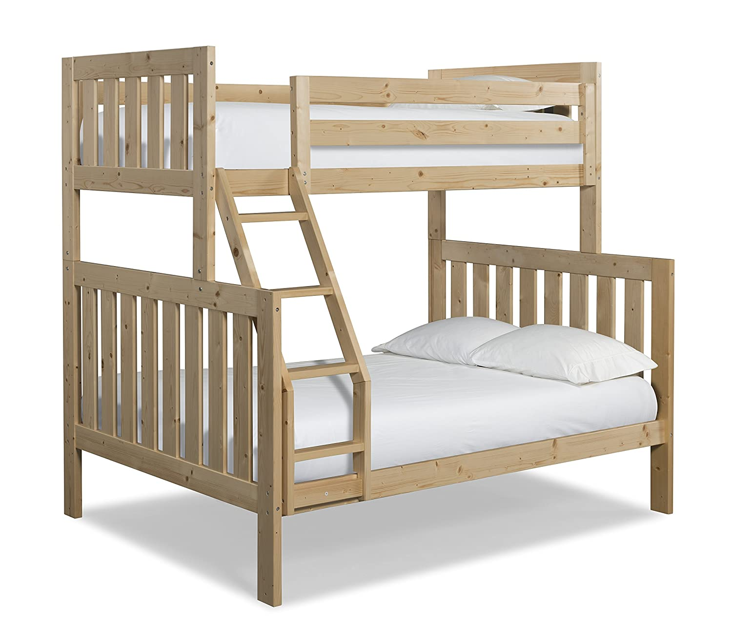 Amazon Com Canwood Lakecrest Twin Over Full Bunk Bed Natural Baby