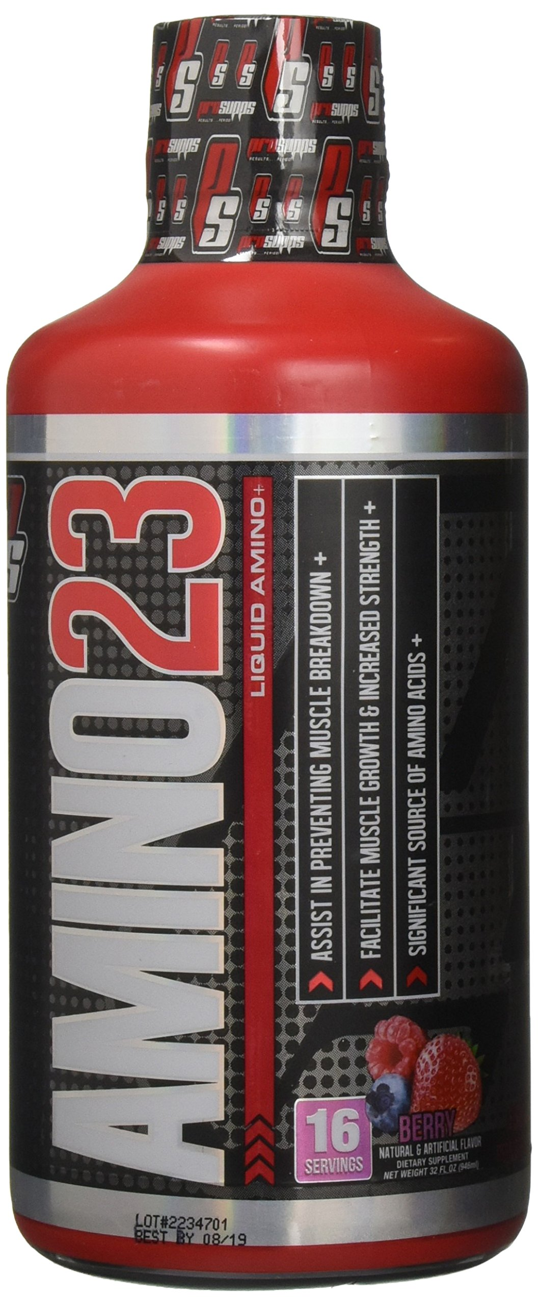 Pro Supps XXIII liquid Amino Diet Supplement, Berry, 32 Fluid Ounce by PROSUPPS