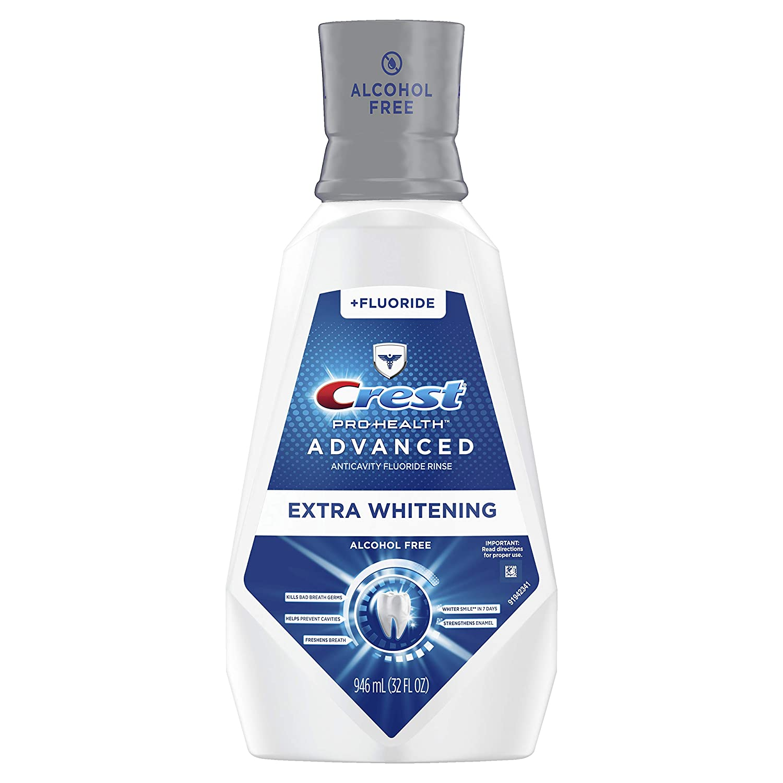 Crest Pro-Health Advanced Mouthwash, Alcohol Free, Extra Whitening, Energizing Mint Flavor, 946 mL (32 fl oz)