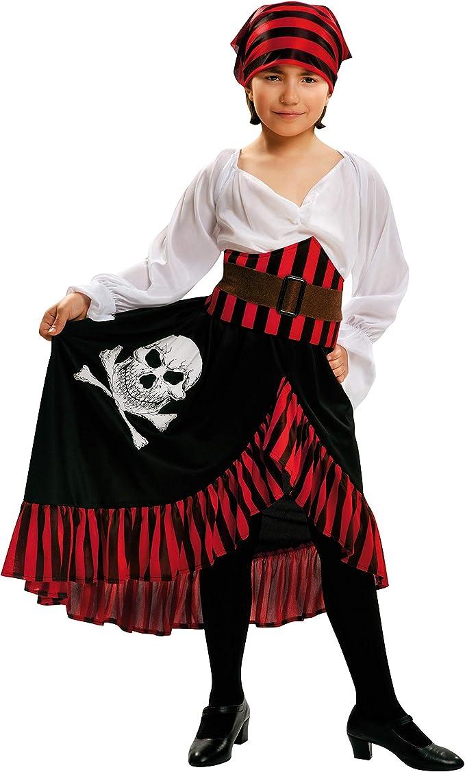 My Other Me Me-200585 Disfraz de pirata bandana para niña, 7-9 ...