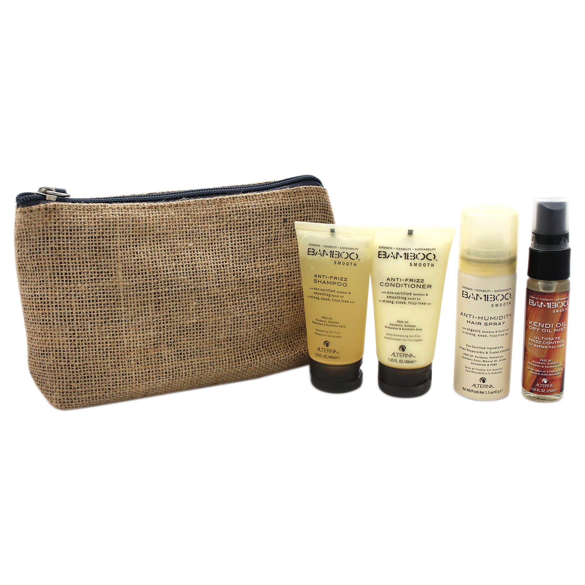 Alterna Bamboo Smooth On The Go 4 Piece Travel Kit for Unisex