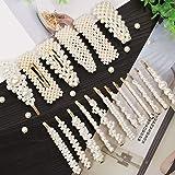 18 Pcs Pearl Hair Clips Large Hair Clips Pins Barrette Hair for Women Girls Fashion Hair Accessories