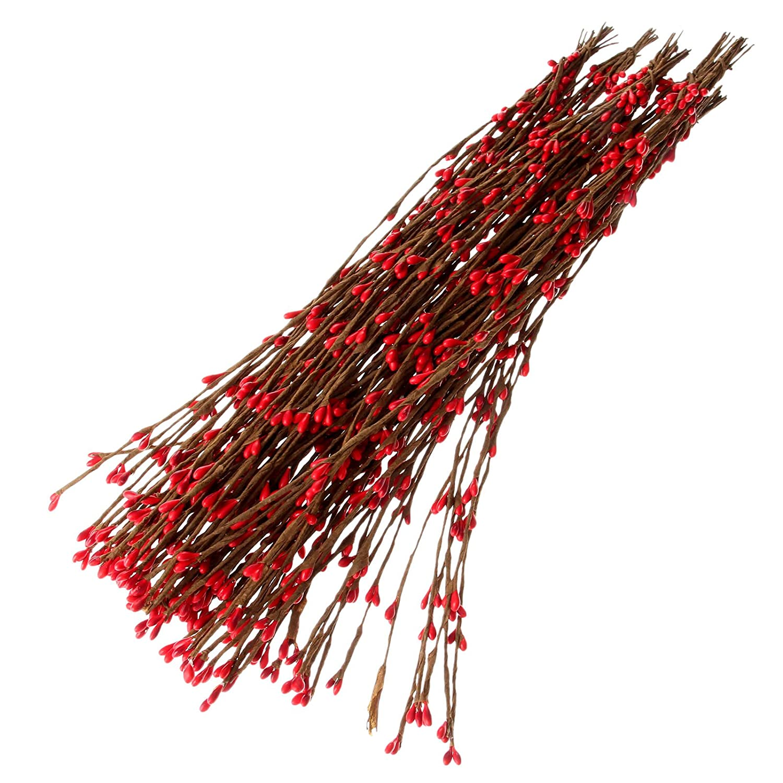 10Pcs 40cm Artificial Rattan Flower Branches Home Wedding Car Chrismas Party Decor - Rose MUXSAM