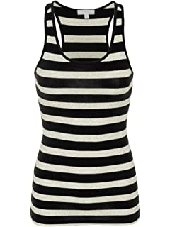 70773dd164150f Active Stripes Racer Back Tank Top at Amazon Women s Clothing store