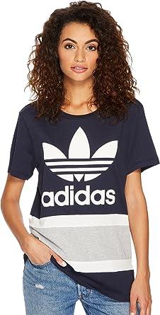 9f8d77c0c6de5 adidas Originals Women's Boyfriend Trefoil Tee Legend Ink 2 Small at Amazon  Women's Clothing store: