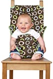 Totseat Chair Harness, The Washable and Squashable, Portable Travel High Chair in Chocolate Chip