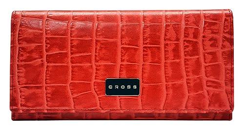 Cross - Cartera para mujer de Otra Piel Mujer rojo Red: Amazon.es: Zapatos y complementos