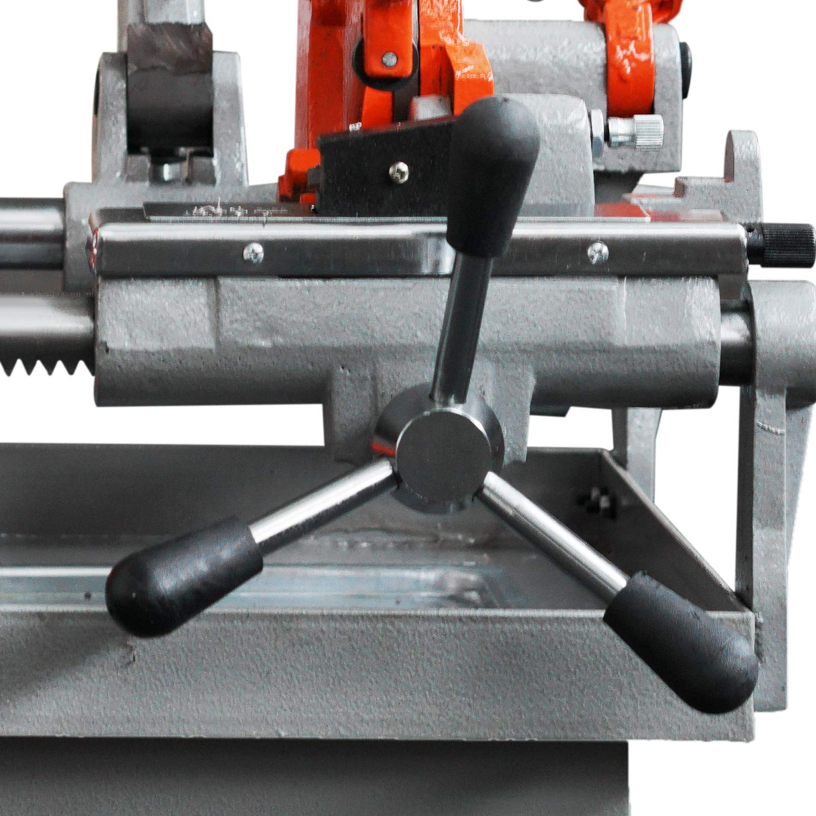 Mophorn Electric Pipe Threading Machine 1/2''-4'' Pipe Threading Cutter 750W Deburrer NPT P100 Upstanding by Mophorn (Image #6)