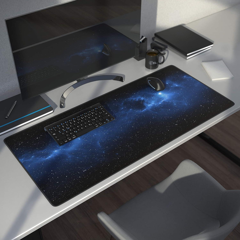 "CSL XXL Mousepad Gaming 900 x 400mm /""Univers/"" Tappetino Mouse Gaming Extralarge Adatto a Roccat Razer Logitech Mouse e Tastiera Migliora precisione e velocit/à"