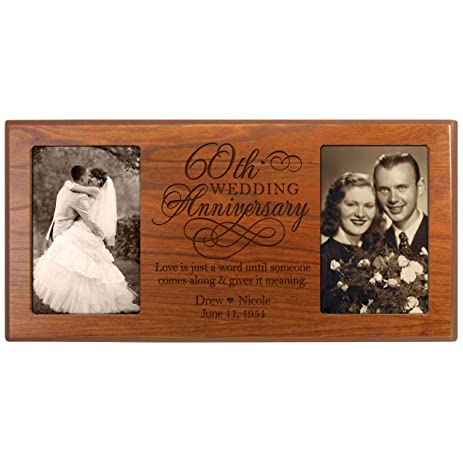 Amazon.com - Personalized 60th Anniversary Picture frame Gift Custom ...
