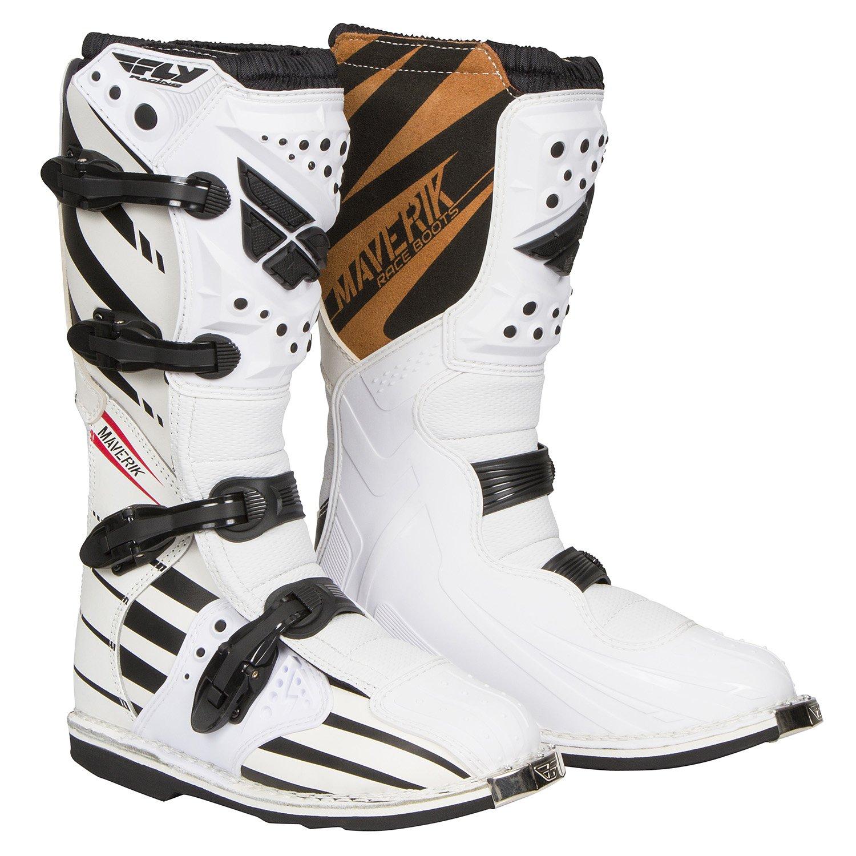 Fly Racing Motocross-Stiefel Maverik Wei/ß Gr 42