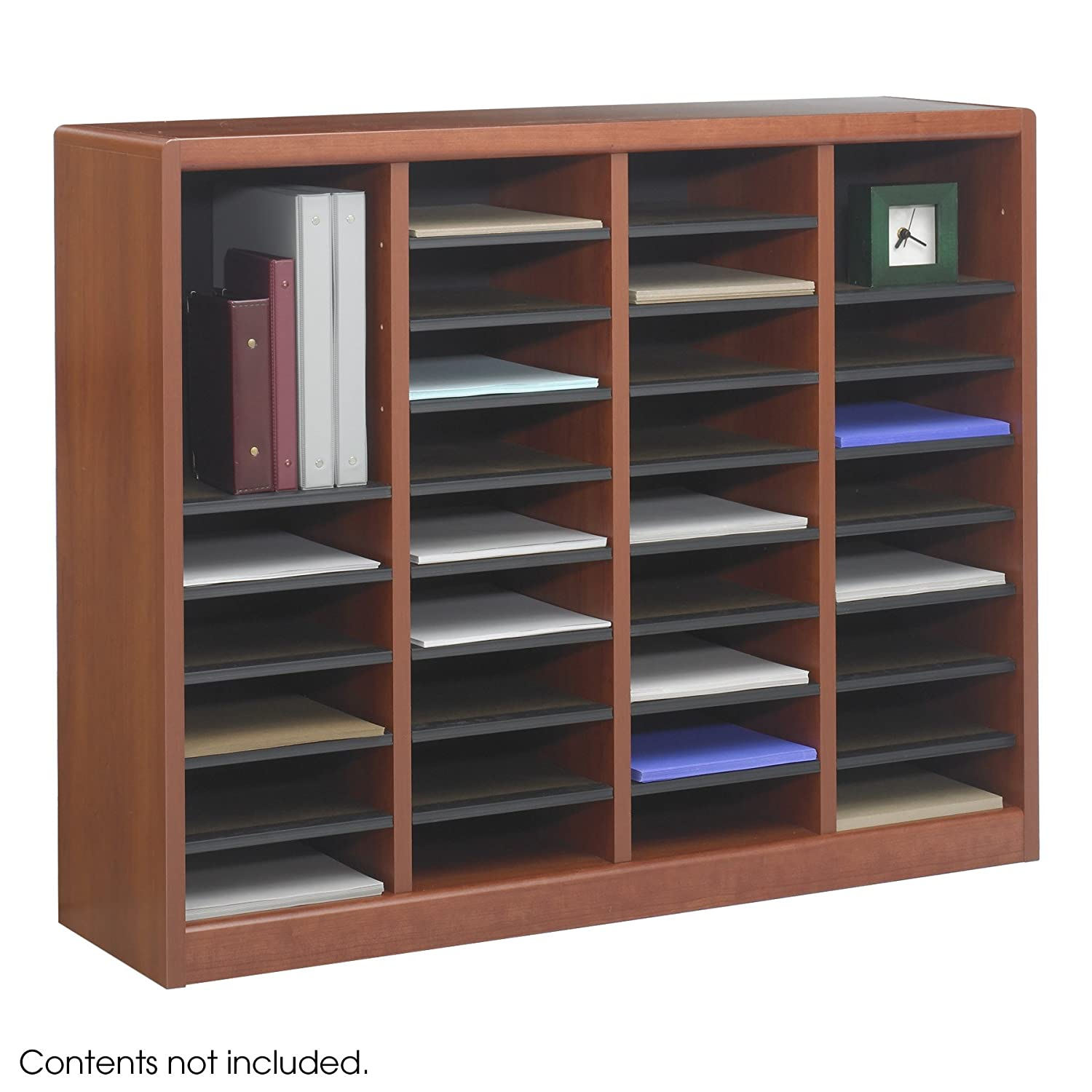 office mailbox organizer. Amazon com  Safco Products 9321CY E Z Stor Wood Literature Organizer 36 Compartment Cherry Office