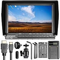 Neewer NW760 Ultra HD 7 Zoll 1920x1200 IPS Bildschirm Kamera-Feld-Monitor mit F550 Ersatz-Akku und USB-Ladegerät für Sony Canon Nikon Olympus Pentax Panasonic