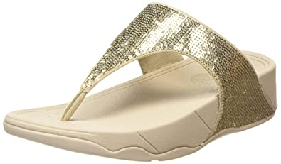 4c9bd18a6b5de7 FitFlop Women s ELECTRA CLASSIC Pale Gold Leather Fashion Sandals - 5  UK India (38