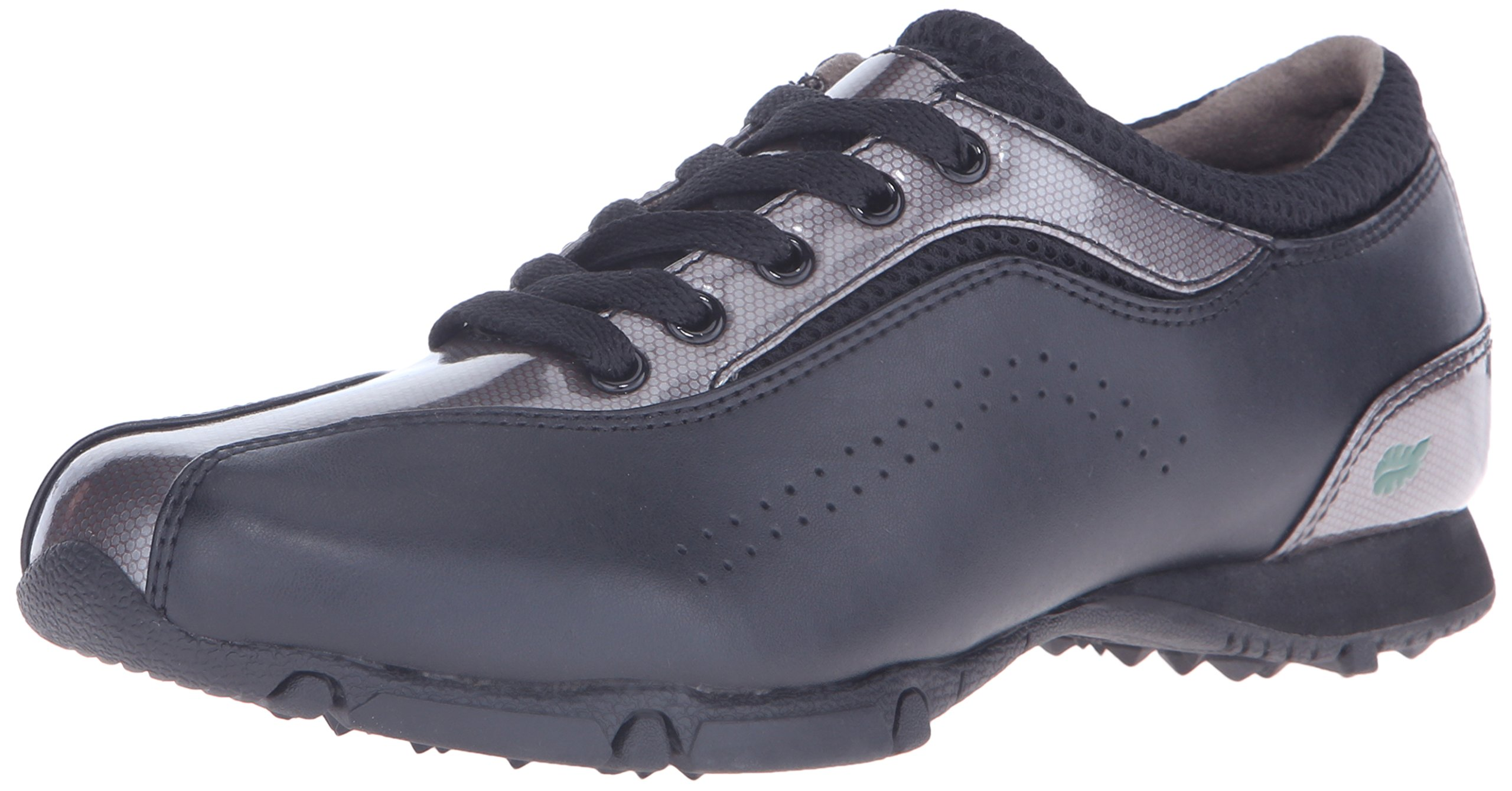 Golfstream Women's Euro Lace-Up Golf Shoe, Black/Charcoal, 5.5 M US
