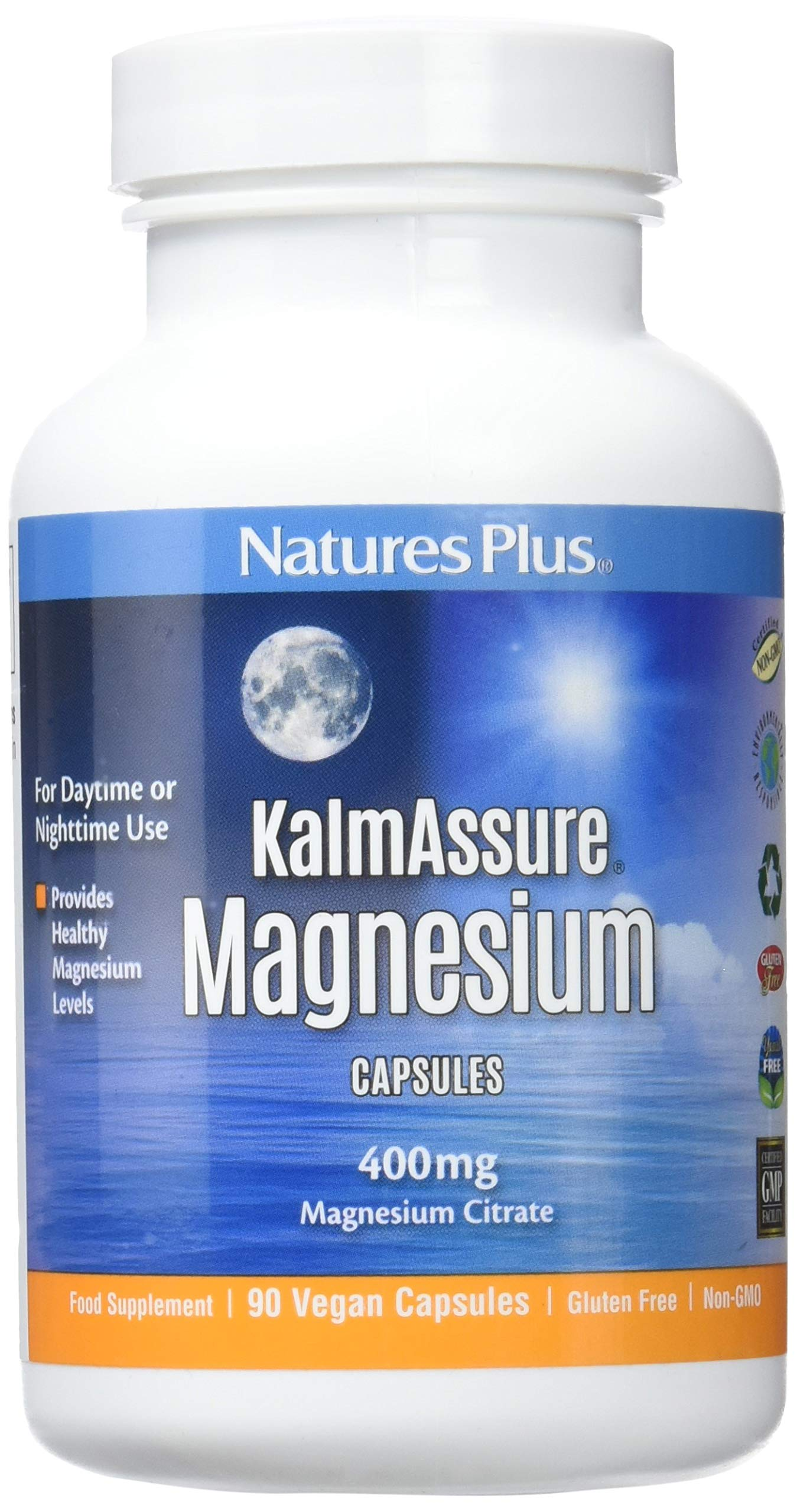 Natures Plus Kalmassure - 400 mg Magnesium, 90 Vegan Capsules - High Quality Natural Stress