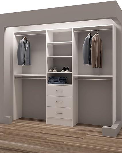 Tidy Squares Demure Design 87u0026quot;W Closet System