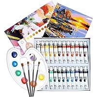 Epeios Acrylic Paint Set, 30pcs Paint Sets with 24 Paint Tubs, 4 Paintbrushes, 1 Palette, 1 Canvas,Perfect for Canvas…