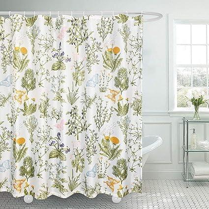 Amazon Ice Jazz Floral Shower Curtains Garden Plants Flowers