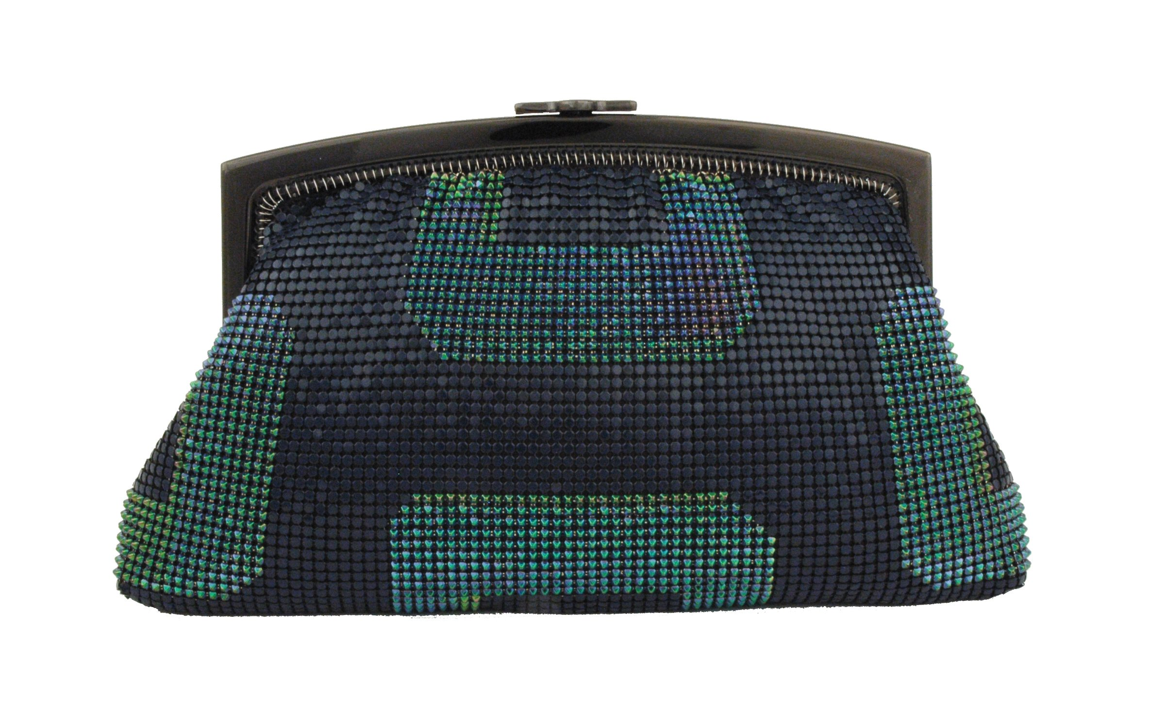 Whiting & Davis Geo Framed 1-5841PE Clutch,Peacock,One Size