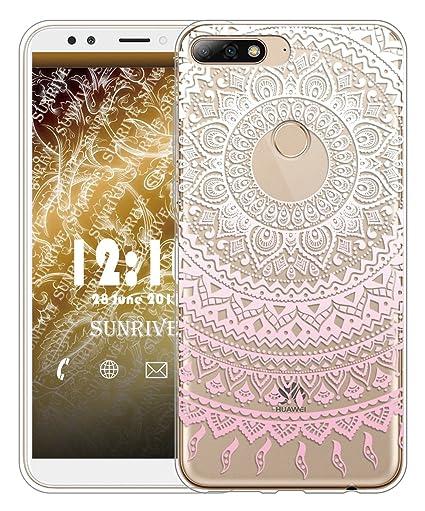 Sunrive Funda para Huawei Y7 2018 / Honor 7C, Silicona Slim Fit Gel Transparente Carcasa Case Bumper de Impactos y Anti-Arañazos Espalda Cover(TPU ...
