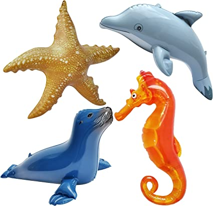 """Jet Creations Inflatable Animals 4pcs Dolphin 20/"""" Long Best for Party Pool"""