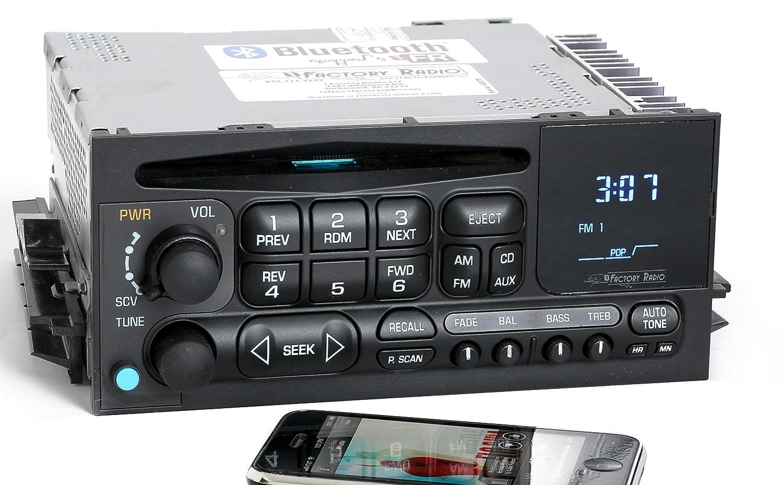 Renewed Chevy GMC 03-05 Truck Radio AM FM CD Player Upgraded w Bluetooth Music 15138488
