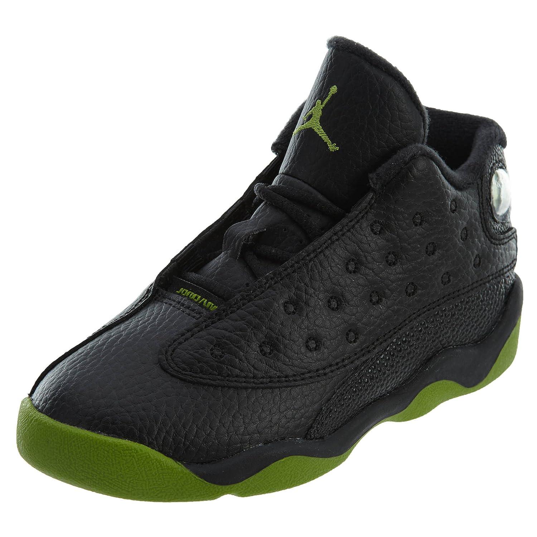 Jordan Nike 414581-042 Kids Toddler 13 Retro BT Black//Altitude Green-White Size 8