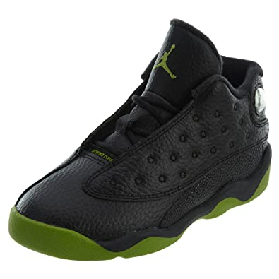 b2ab4496ddd747 NIKE Jordan Retro 13 quot  Altitude Black Altitude Green-White (Toddler) (