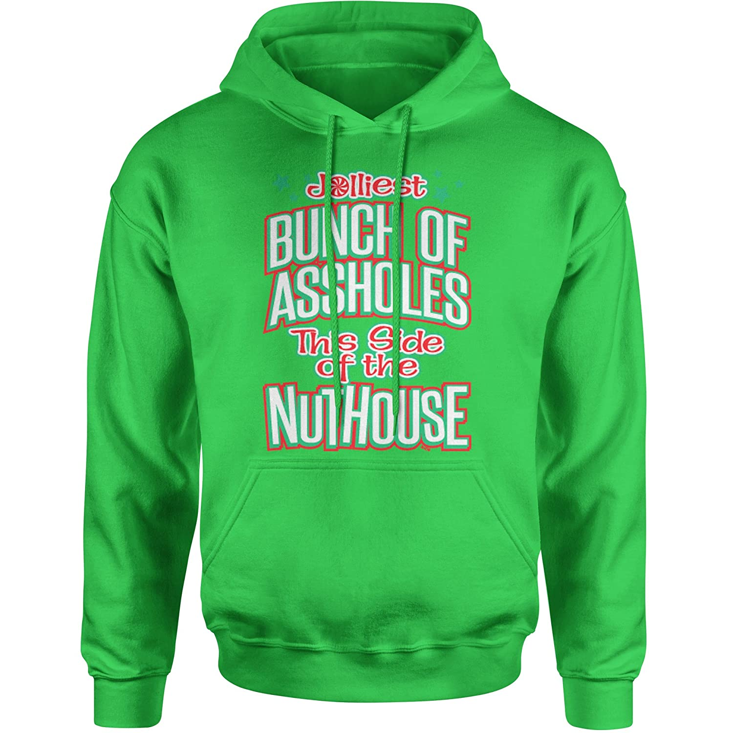 Expression Tees Jolliest Bunch Of A**holes Unisex Adult Hoodie 1204-H