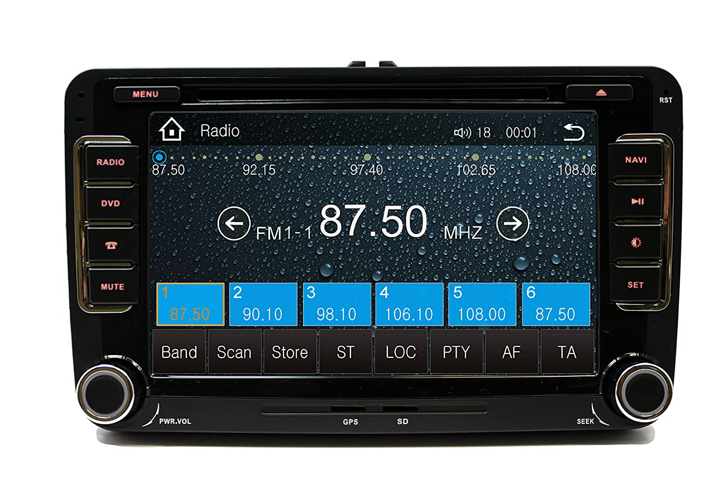 Amazon com volkswagen jetta 07 11 oem replacement in dash double din touch screen gps dvd ipod navigation radio 2009 2011 g6 car electronics