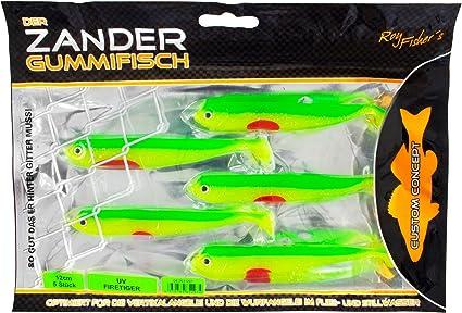 UV Barsch 5 St/ück Roy Fishers/Der Zander Gummifisch 12cm