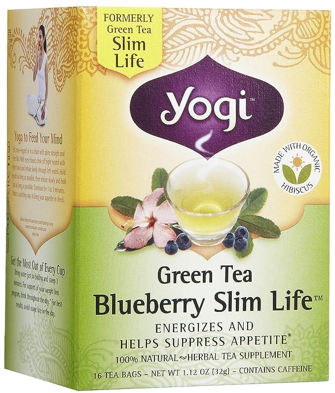Yogi Tea Green Tea Blueberry Slim Life, Herbal Supplement ...