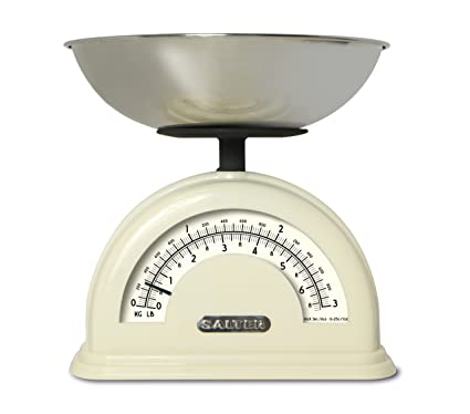 Salter Sl1200 Vintage Traditional Kitchen Scale Cream Amazon Co Uk